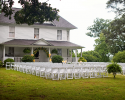 Outdoor Ceremony Setup at Harvest House