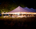 Lit Event Tent at Harvest House