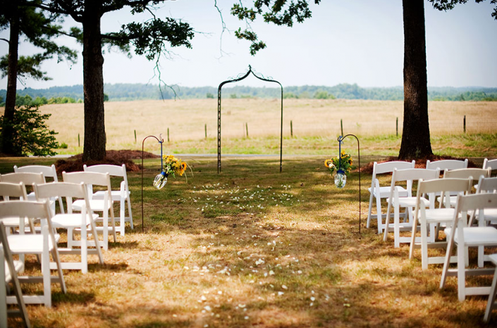 Outdoor Wedding Ceremony Setup